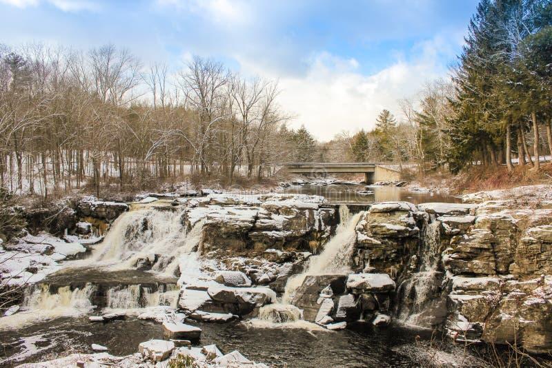 Extrema vintervillkor i Pocono berg royaltyfria foton