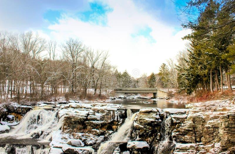 Extrema vintervillkor i Pocono berg royaltyfri foto