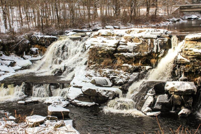Extrema vintervillkor i Pocono berg fotografering för bildbyråer