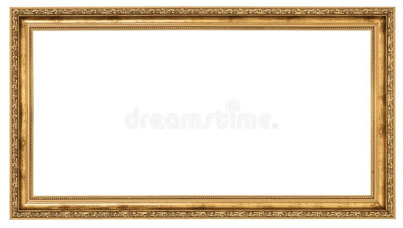 Extremadamente de largo marco de oro fotografía de archivo
