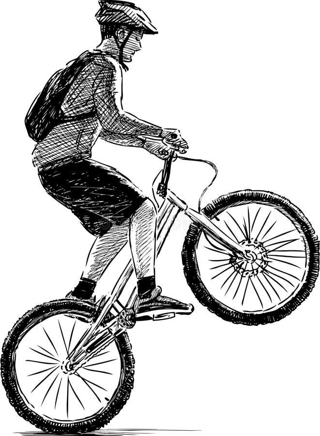 Extremal cyklist vektor illustrationer