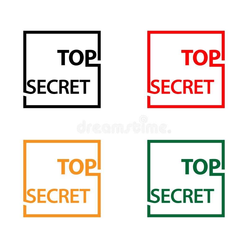 Extremamente secreto com ícone do estoque do polegar, projeto liso, ilustração do vetor - vetor ilustração do vetor