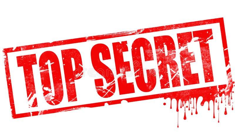 Extremamente secreto no selo vermelho da tinta ilustração stock