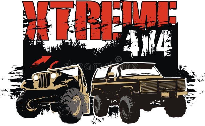 extreme 4x4 stock illustrationer