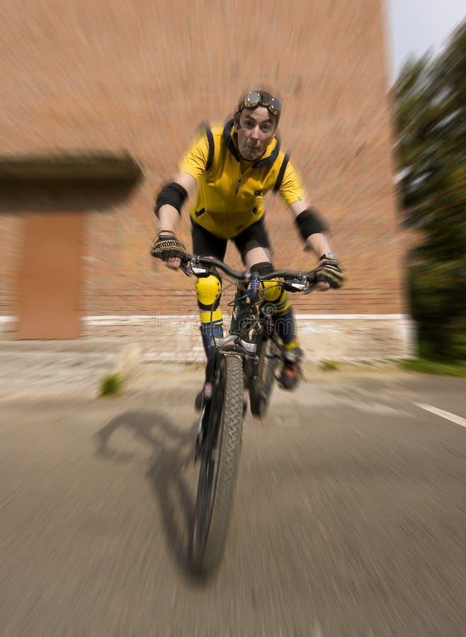 Extreme biker royalty free stock photos