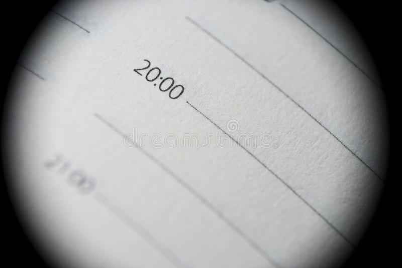 Download Extreme Close-up Of Personal Organiser Stock Image - Image: 29030927