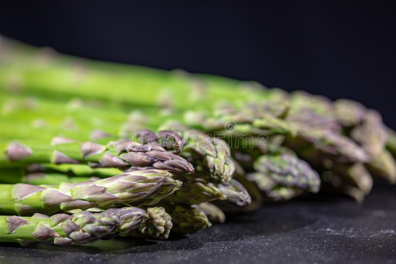 Green asparagus, narrow focus shot royalty free stock images