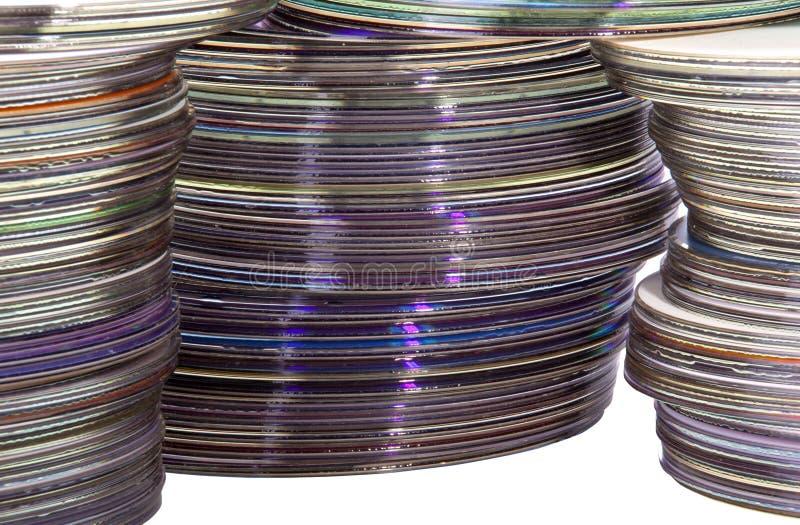 Extreme Close-up van Glanzende Kleurrijke Compact-discs stock foto's