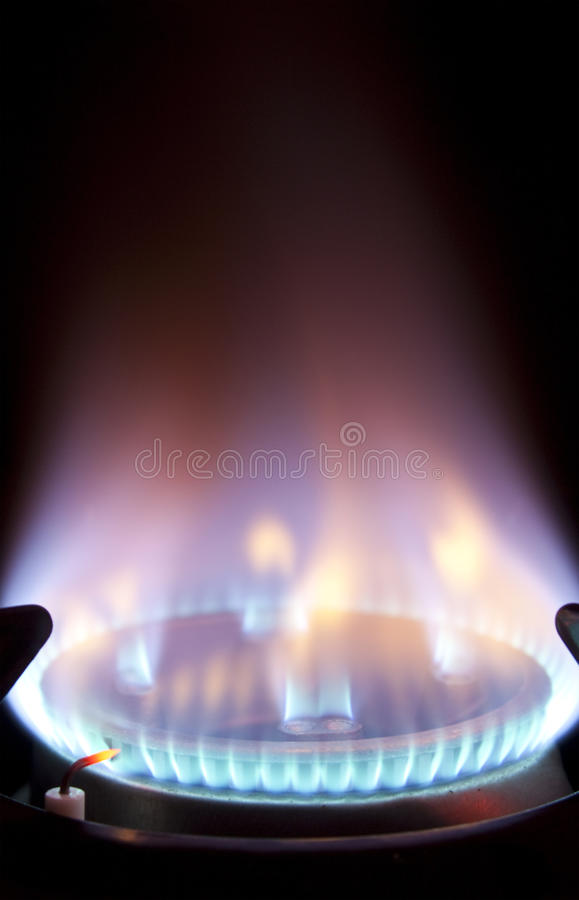 Download Extreme Closeup Of Gas Flame On Hob Stock Photo - Image: 20673828