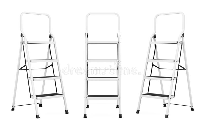 Extreme Closeup Ladders. On a white background royalty free illustration