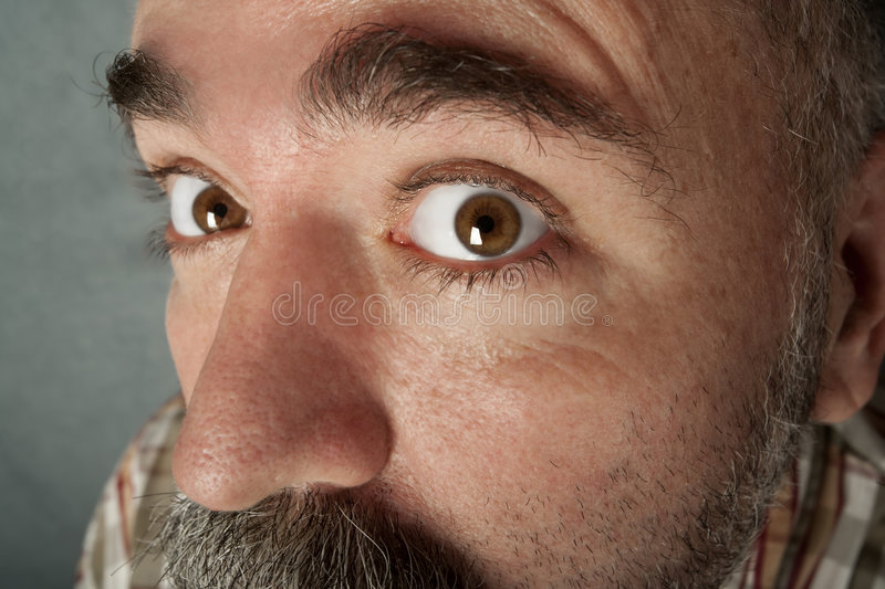 Download Extreme Closeup Of Man In His 40s Stock Photo - Image of peek, pupil: 8403696
