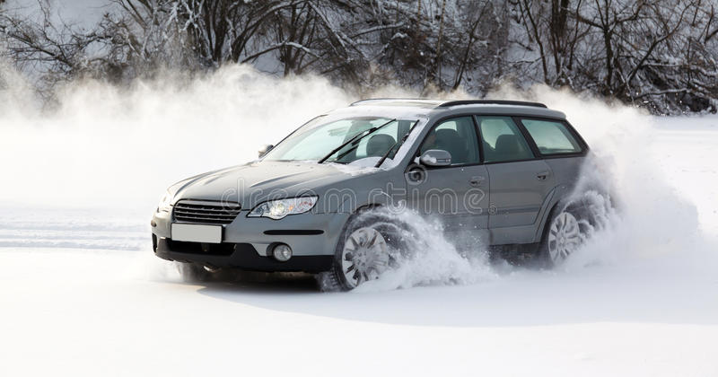 Extreme driving stock photo
