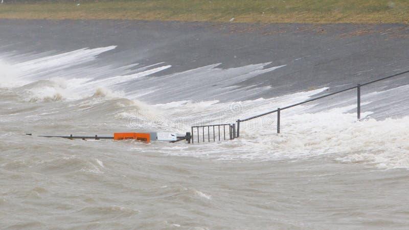 Extreme Flut in den Niederlanden stockfoto