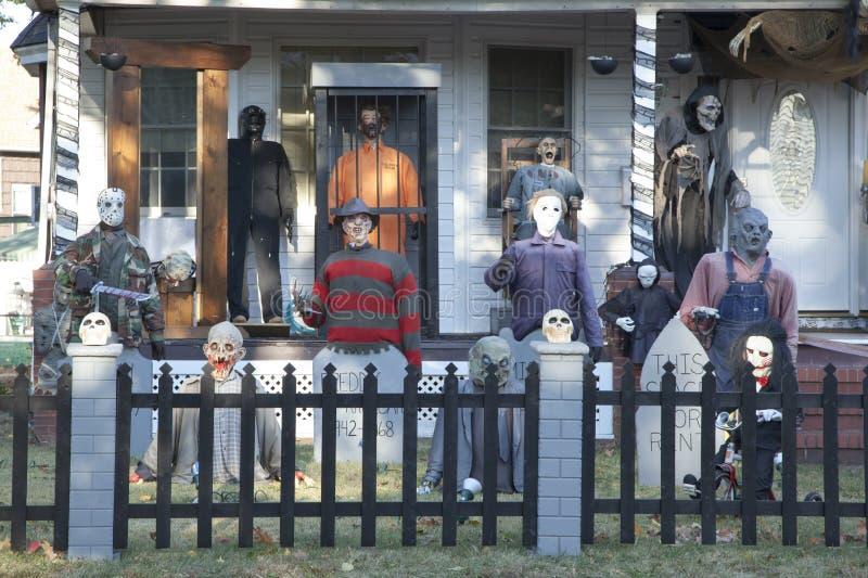 Extreme Halloween Decorating stock photography