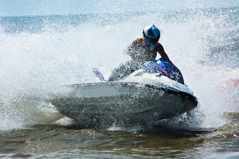Extreme jet-ski watersports royalty free stock images