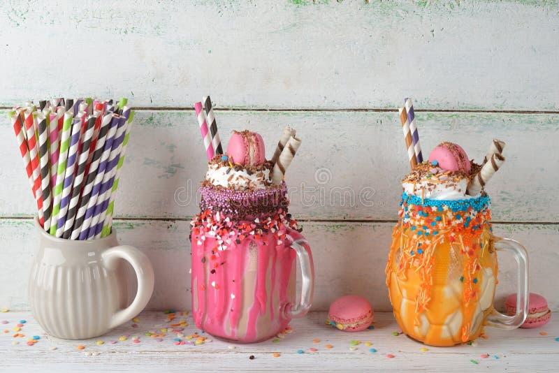 Extreme milkshake royalty-vrije stock afbeelding