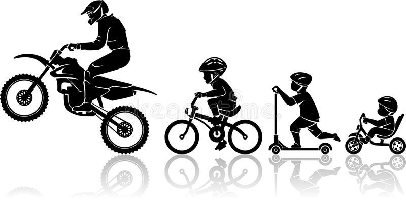 Extreme Motorcycle Evolution royalty free illustration
