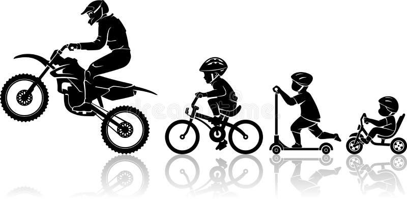 Extreme Motorrad-Entwicklung lizenzfreie abbildung