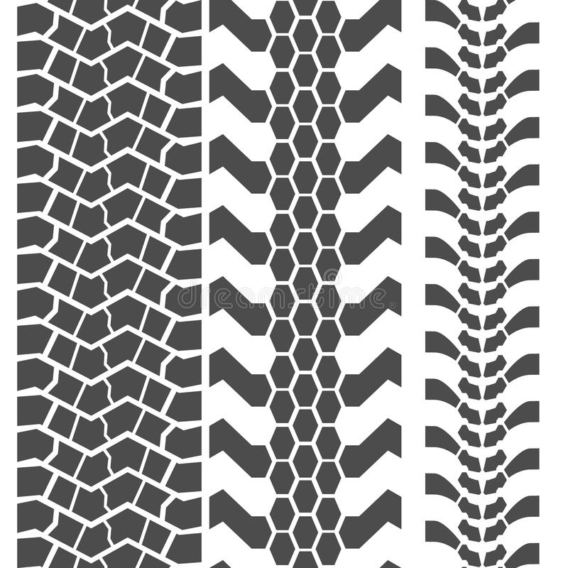 Extreme Mud Tyres Seamless Prints. Vector vector illustration
