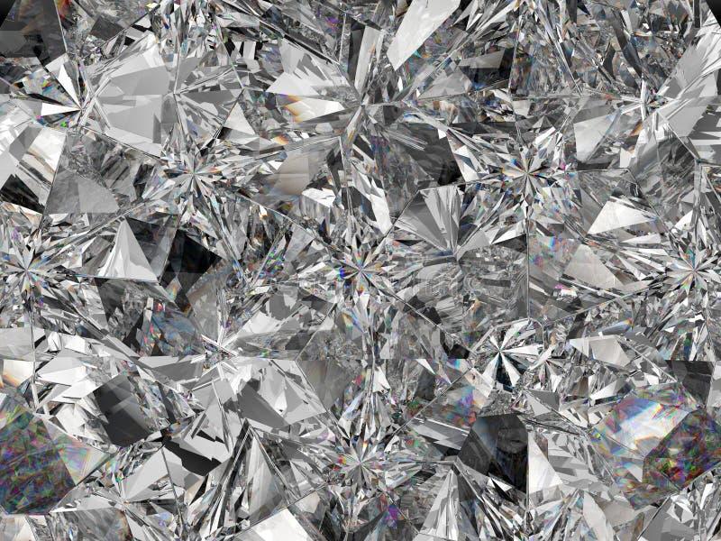 Extreme Nahaufnahme und Kaleidoskop der Diamantstruktur lizenzfreie abbildung