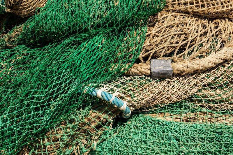 Extreme Nahaufnahme von Fischernetzen - voller Rahmen lizenzfreies stockbild