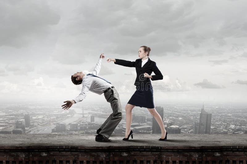 Extreme office quarrel royalty free stock photos