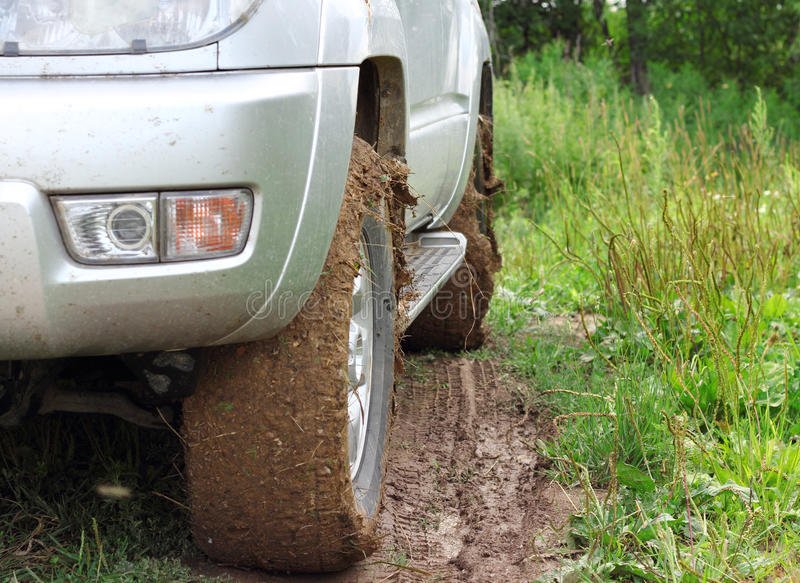 Download Extreme Offroad Behind  Car In Mud Royalty Free Stock Photos - Image: 26084078