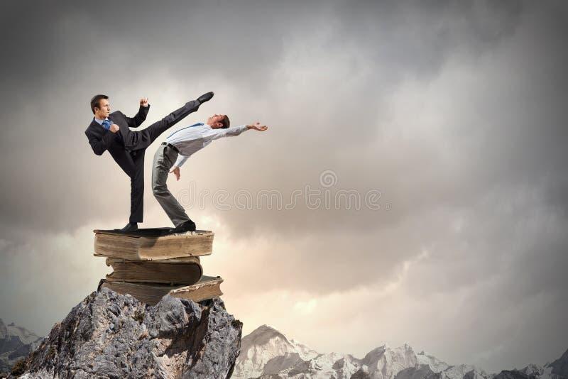 Extreme quarrel stock photo