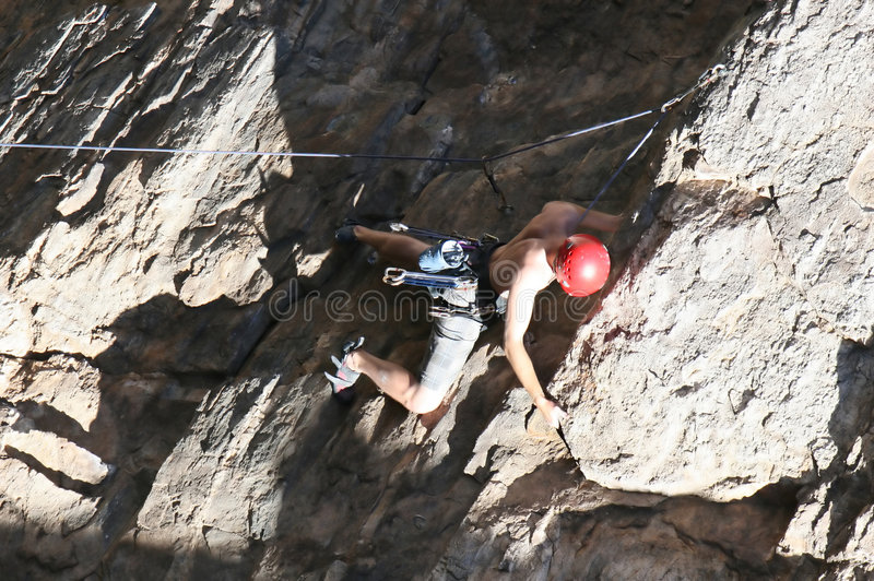 Download Extreme Rock Climber stock photo. Image of biceps, climbing - 2370708