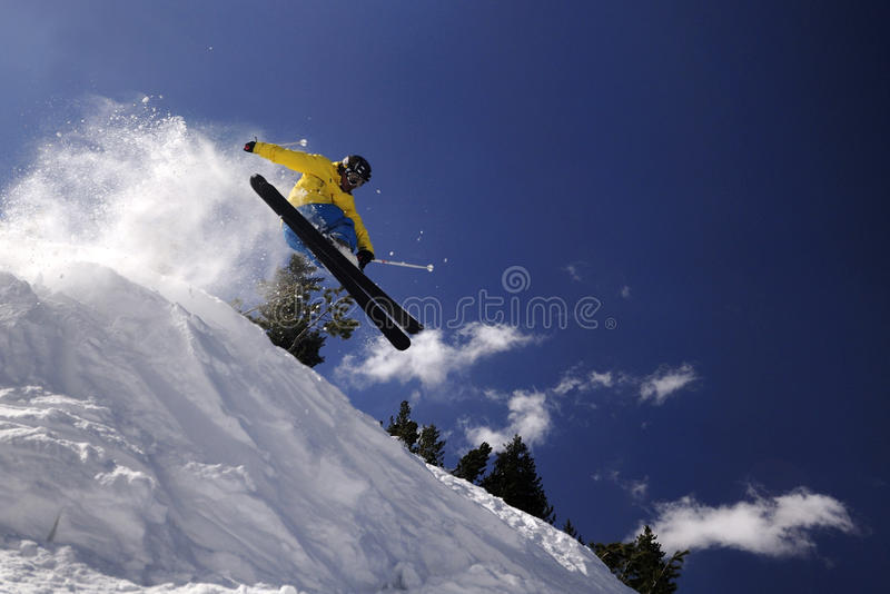 Download Extreme skier stock image. Image of jump, mountains, freestyle - 9667761