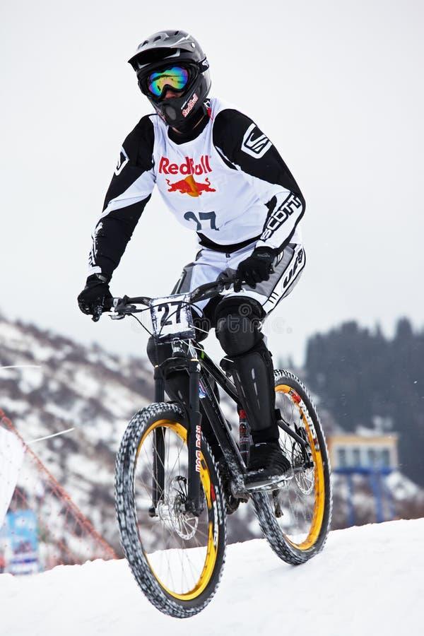 Free Extreme Snow Mountain Biking Royalty Free Stock Photos - 8190828
