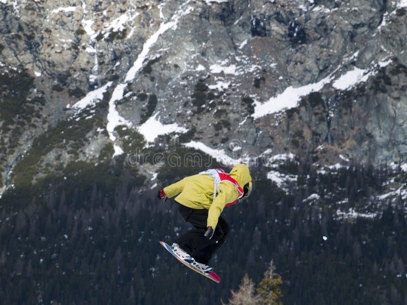 Extreme snowboard royalty-vrije stock afbeelding