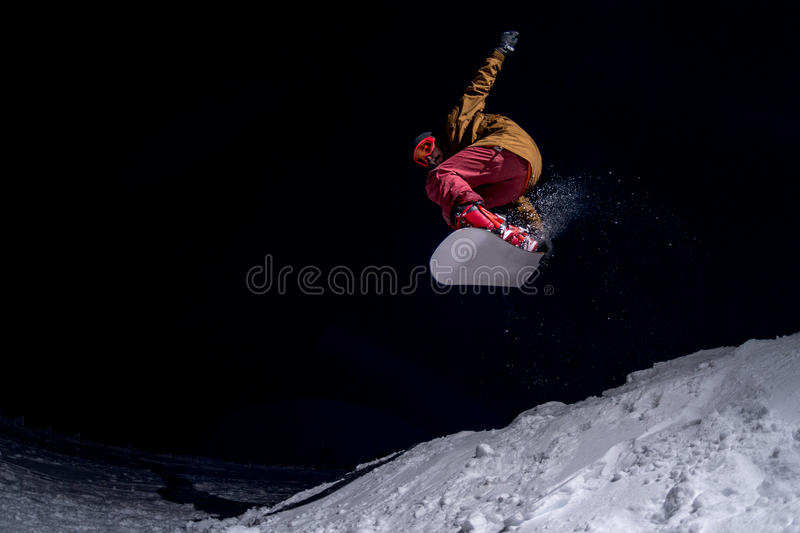 Extreme snowboarder royalty-vrije stock foto's