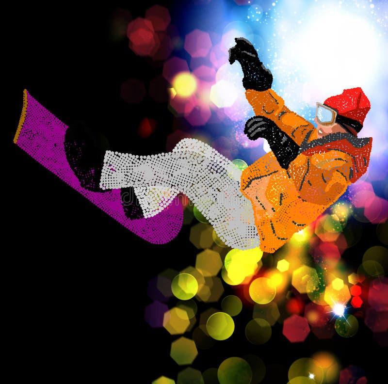 Extreme Snowboarding. stock afbeelding