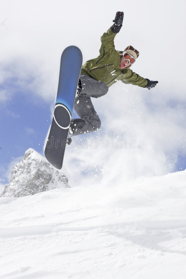 Extreme snowboarding stock images