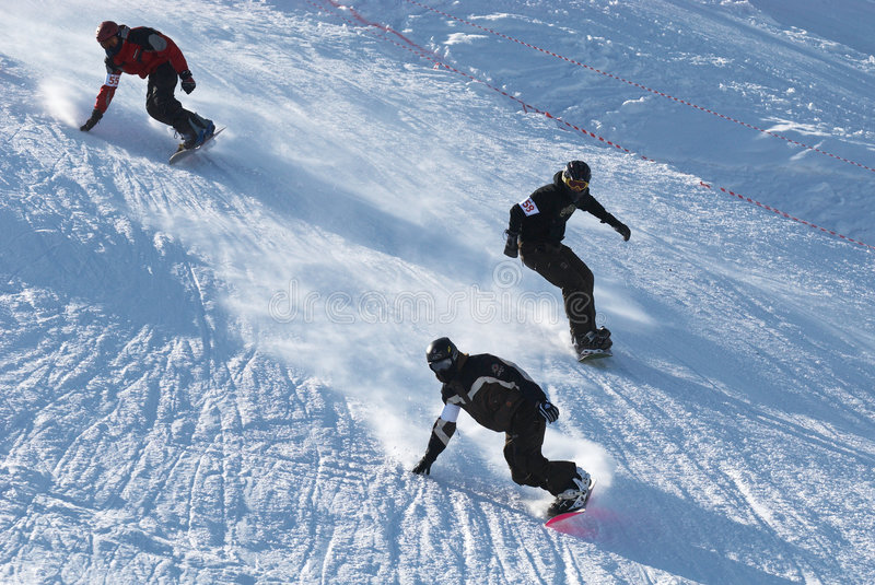 Download Extreme snowboarding race editorial photo. Image of agility - 7005896