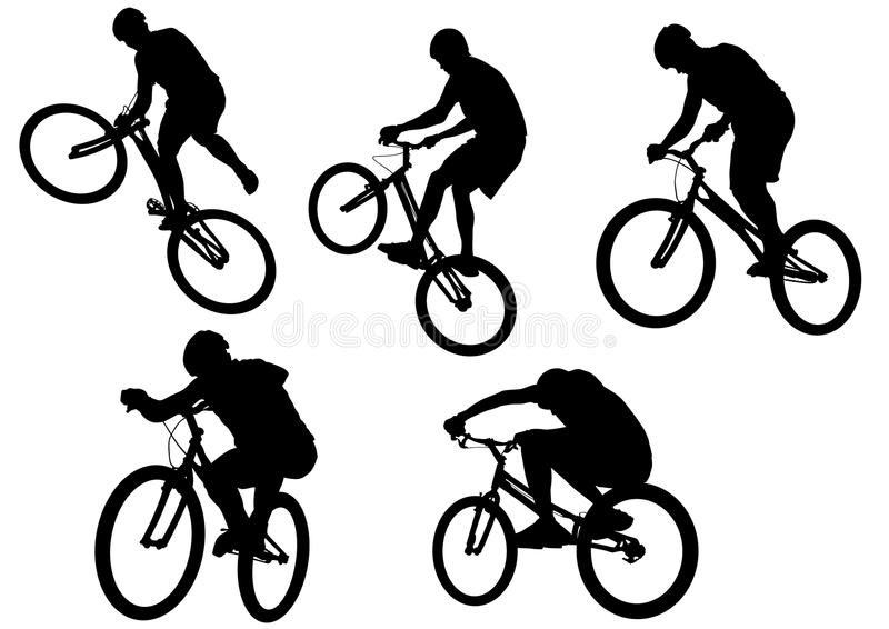 Download Extreme sport bike stock vector. Image of isolated, cycling - 10638727
