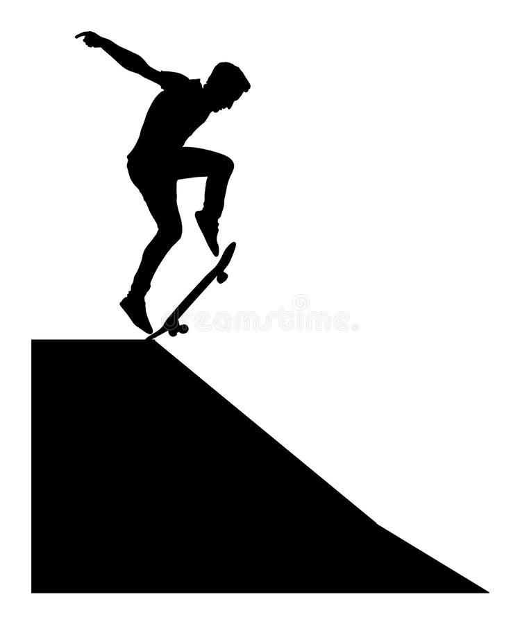 Free Extreme Sport Game, Skateboarder In Skate Park, Air Jump Trick. Skateboard Silhouette. Stock Photo - 116281940