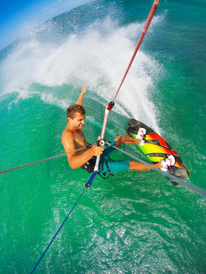Extreme Sport, Kiteboarding stock image