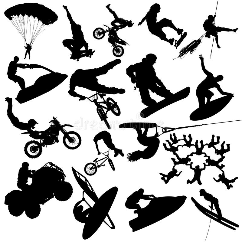 Download Extreme sports stock vector. Image of jumping, flight - 10643064