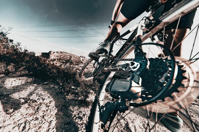 Mountain bike.Sport and healthy life royalty free stock image
