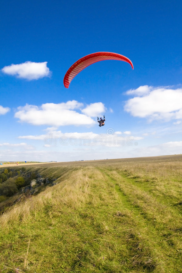 Extreme sports - paragliding stock photo