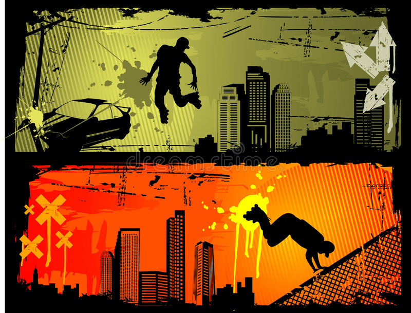 Extreme sports vector royalty free illustration