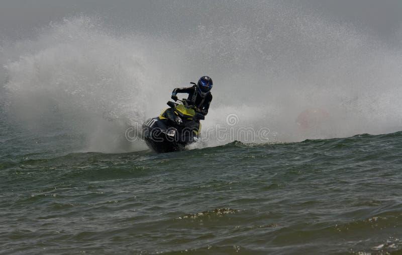 Extreme straal-skirassen stock foto