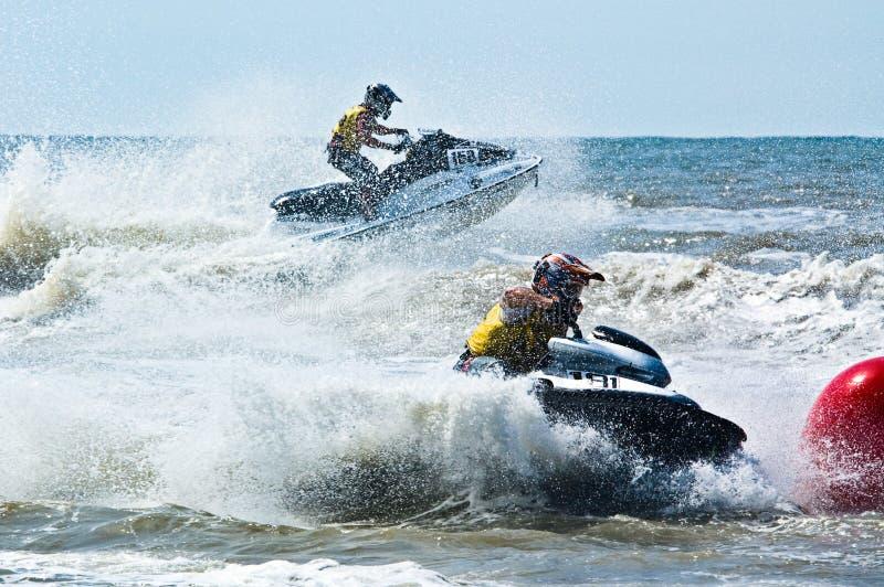Extreme Strahlski watersports lizenzfreie stockbilder