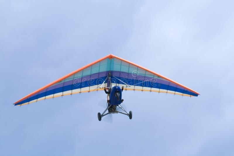 Extreme vlucht op deltaplane royalty-vrije stock foto's