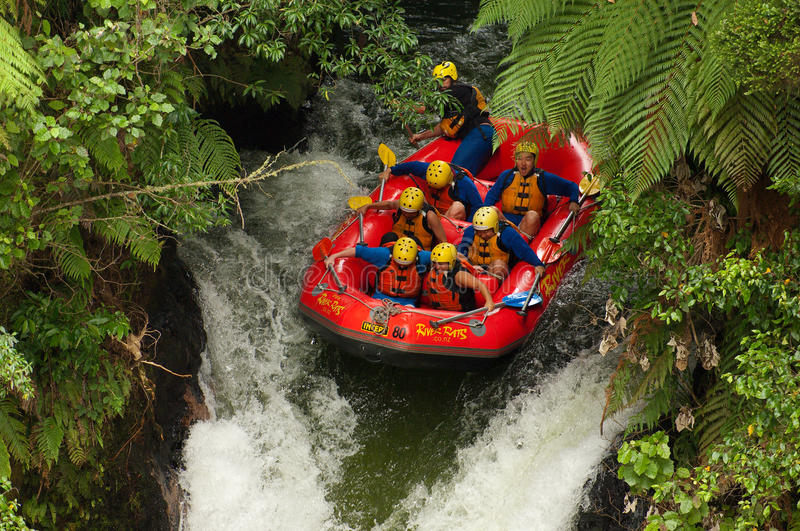 Download Extreme Whitewater Rafting editorial photography. Image of raft - 23418677