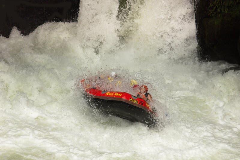 Extreme Whitewater Rafting royalty-vrije stock afbeeldingen