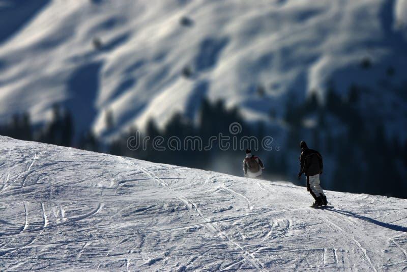 Extreme Wintersport - de Verschillen van de Schaal stock foto