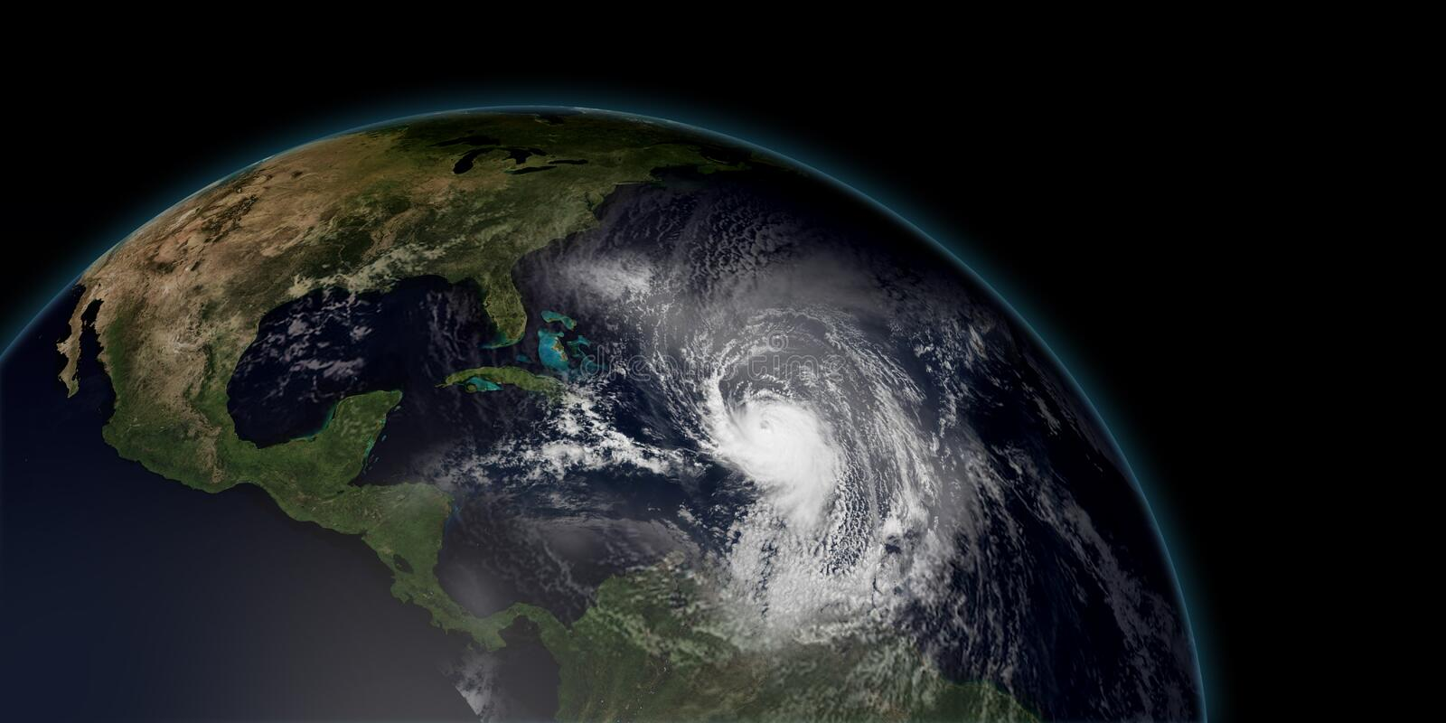 Extremely detailed and realistic high resolution 3D illustration of a hurricane vector illustration